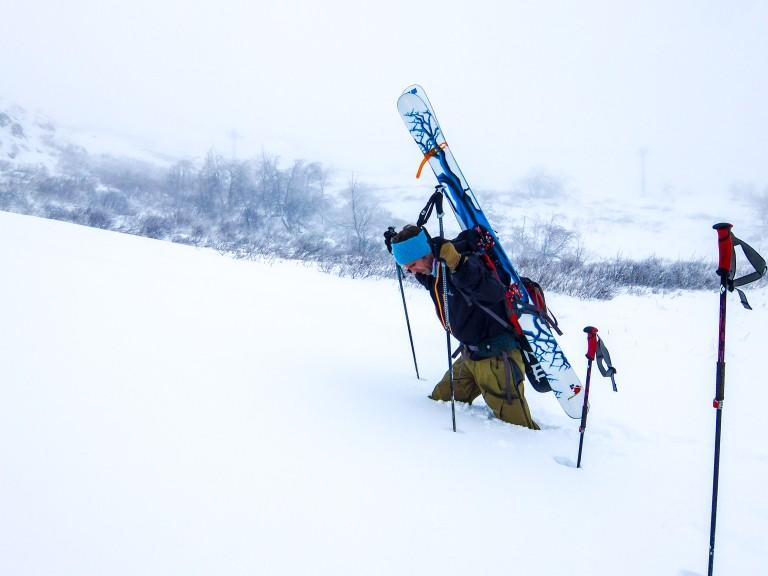 Håkon Kongtorp. Første turen i anlegget. 14. november.