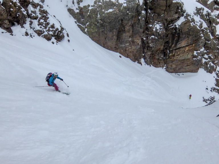 Vivie skiing Likke